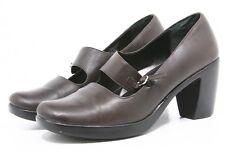 Dansko TARA Pumps CLOGS Womens Shoes Size 39 8.5 9 Brown Leather Heels Mary Jane