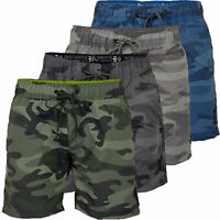 Mens Crosshatch Swimming Shorts Army Camo Quick Dry Trunks Swim Beach Summer