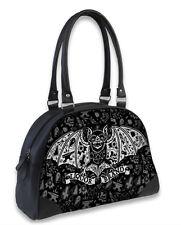 Liquor Brand Tattbat Tattoo Bat Punk Rock Bowling Bag Handbag Purse B-OBW-030
