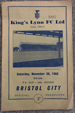 More details for kings lynn v bristol city fa cup 2nd round 1960/61