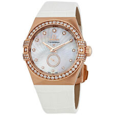 Omega Constellation Mother of Pearl Diamond Dial Ladies Watch 123.58.35.20.55.00