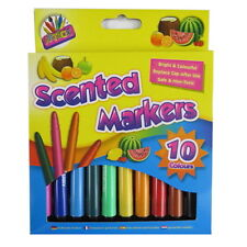 Scented Fruit Fun Colouring Markers – Pack of 10 Colours and 10 Scents