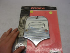 02-5035 Cobra Standard Backrest Insert W/Logo Fluted Billet Chrome t3-b #2