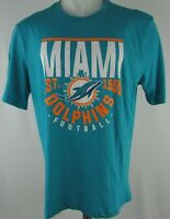 Miami Dolphins NFL Team Apparel Men's Blue Short Sleeve Shirt