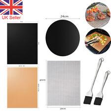 BBQ Grill Mesh Fish Non-Stick Mat Silicone BBQ Brush Cook Baking Reusable Sheet