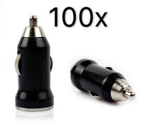 100X Black Mini USB Car Charger Adapter for iPhone 5S 5C 5 4S 4 Galaxy S3 S4 LG