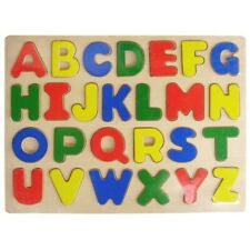 Wood Puzzle Raised Letters Upper Case