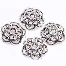 Lots 50X Tibetan Silver Flower Carving Beads Cap Bracelet Jewelry Making 10mm