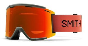 Smith Squad XL MTB Bike Goggles Sage/RedRock ChromaPop Everyday Red + Bonus New