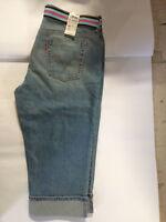 Levi's 515 Womens Capri Jeans Denim Cuffed With Belt Sz.14 -NWT