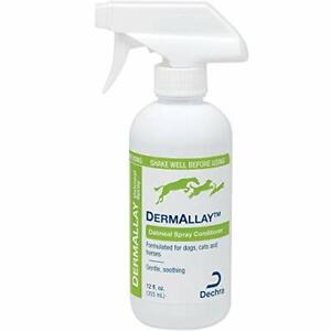 DermAllay Oatmeal Spray Conditioner 12oz (label faded) for Cats, Dogs & Horses