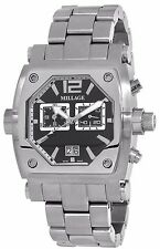 MILLAGE ROGUE COLLECTION ML-135020B26 SWISS QUARTZ BLACK FACE CHRONOG DATE WATCH
