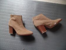 New Aquatalia Ankle Boots Beige Size 10 Leather