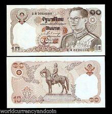 THAILAND 10 BAHT P87 1980 BUNDLE HORSE KING UNC CURRENCY LOT X 40 PCS BANK NOTE