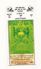 1998 MIAMI DOLPHINS TICKET FROM 12/13/1998 VS. NEW YORK JETS  !!