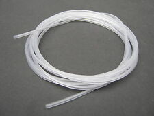 1 METRE CLEAR SILICONE RUBBER TUBING, FOR HOOKS, RIGS, KNOTS