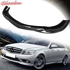 Carbon Fiber Godhand Front Bumper Lip Spoiler W204 Sedan 08-11 C250 C300 For AMG