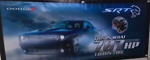 """DODGE Challenger Hellcat Vinyl Banner Mopar 20""""x50"""" What 707HP Looks Like. NHRA"""