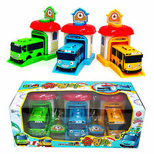 Tayo The Little Bus Shooting Car Set (3 pcs Buses and Car Launcher Garage)