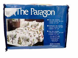 The Paragon King Set Christmas Village Duvet Cover 2 Shams Microfiber Sheets New