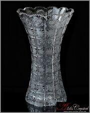 "Bohemian Crystal Flowers Vase 31 cm, ""Bohemia"", New!"