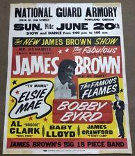 Original James Brown Concert Poster Handbill 1950's Portland Oregon Rare