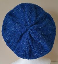 French Beret  Hand Knitted in  Ireland  100% Irish Donegal Tweed wool