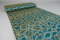 11,1m 70er Vintage Stoff Gardine Stoffballen Meterware Dekostoff Fabric 60s NOS