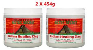 2 x Aztec Secret Indian Healing Clay 454g NEW FREE SHIPPING