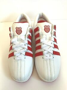 K Swiss Classic Luxury Edition Red Stripe Shoes Size 10 M - New Without Box