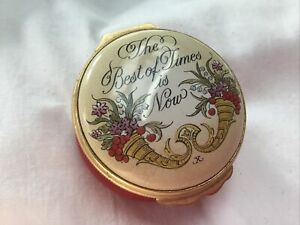 Halcyon Days Enamels The Best Of Times Is Now Enamel Box