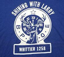 Vintage 1980s B.P.O.E. Order of Elks Whittier 50/50 USA Made Men's Large Shirt
