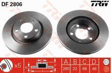 TRW FRONT BRAKE DISCS AUDI A4 A8 SEAT EXEO VW PASSAT 8E0615301B