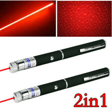 2Pc 500Miles 650nm Red Laser Pointer Pen Ultra Bright 2in1 Aaa Xmas Lazer Lights