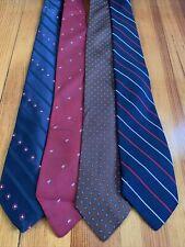 G Lot Of 4 Mens Vintage Tie's In Homme, Harridge Row, Gimbels, The Craft