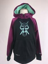 Nike Boys Size Small 8/9 Hoodie Jacket Therma Fit kobe Bryant Logo Skull Teal
