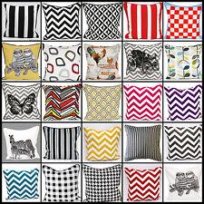 "Stylish Cushion Cover 100% Cotton Decorative PillowCase 18""x18""(45 x 45cm)"