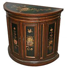 Black Wooden Half Moon Cabinet Model 2085-214B