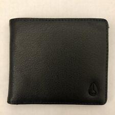 Nixon Mens SMS Cape Vegan Leather Coin Wallet Black Bi-fold New NWT