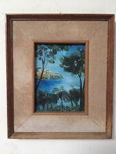 quadro antico dipinto olio su legno   firmato con cornice