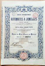 Belgique - Bruxelles - Superbe & Rare Ste Intern. des Automates à Jumelles 1902