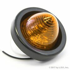 """1 New 2"""" Amber LED Beehive Side Clearance Marker Light w Grommet and Wiring"""