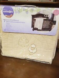 Babies R Us Little Lamb Collection 7 Piece Crib Bedding Set - tan beige sheep