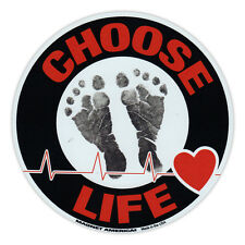 Round Magnet - Choose Life - Anti Abortion Pro Life - Magnetic Bumper Sticker