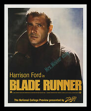 1982 BLADE RUNNER ADVANCE PREVIEW MOVIE POSTER! - MUSEUM ARCHIVAL LINEN-MOUNTED!