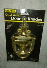 """New Stanley 7"""" Solid Brass Door Knocker 80-4095 Classic Traditional Roped"""