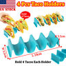 4 Pcs Taco Holder Wave Shape Mexican Food Rack Stand Kitchen Cooking Tool US