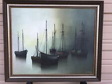 Original Oil Painting On Canvas By France Famous Artist Gilbert Bria