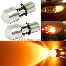 2x 1156 7506 7507 Amber CREE LED 10-SMD Turn Signal Light Projector Bulbs #Z12A