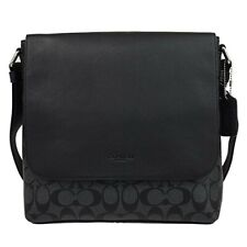 NWT COACH F28575  CHARLES Small Messenger Crossbody Signature Leather Black